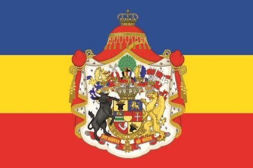 Fahne Flagge Mecklenburg-Schwerin großes Wappen 80 x 120 cm Bootsflagge Premium