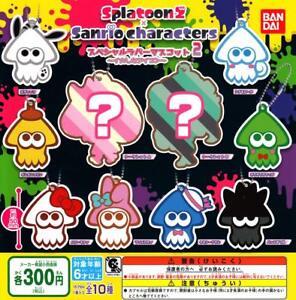 Bandai-splatoon-2-Sanrio-Sao-Paulo-Goma-Goma-Mascota-2-Gashapon-Conjunto-de-10-Mascota