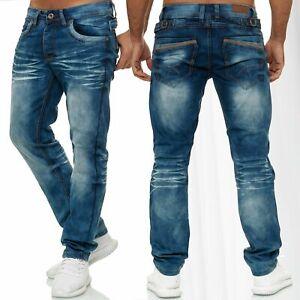 Pantalon-Jeans-Homme-Regular-Fit-Denim-Stretch-Oversize-W34-W44-Blue-Jaylvis