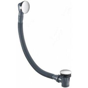Pura-CB106-Chrome-Bath-Waste-Flat-Overflow-Press-Top-Pop-Up-Plug-WST4005