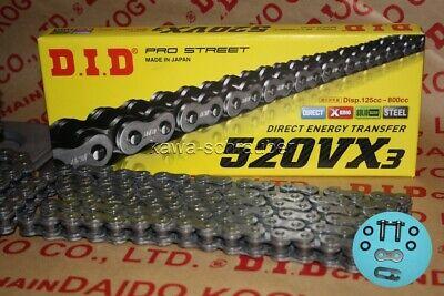 offen mit Clipschloss X-Ring DID Kette 520 VX2 114 Glieder