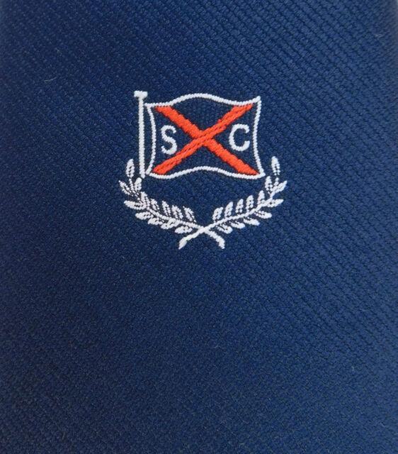 SC vintage tie Flag Red cross St Patrick saltire Corporate club Initials S C