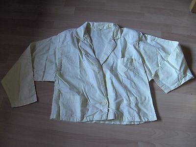 Damen Jacke Kurzjacke Gr. 38 - Gelb - Langer Schalkragen - Vintage Sparen Sie 50-70%