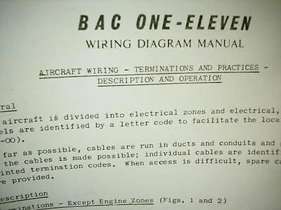 British Aircraft Corporation One-Eleven BAC-111 Wiring Diagram Manual on