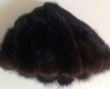 CAPPELLO IN PELLICCIA DI VISONE VINTAGE DA DONNA 25cmx16cm WOMEN'S MINK FUR HAT