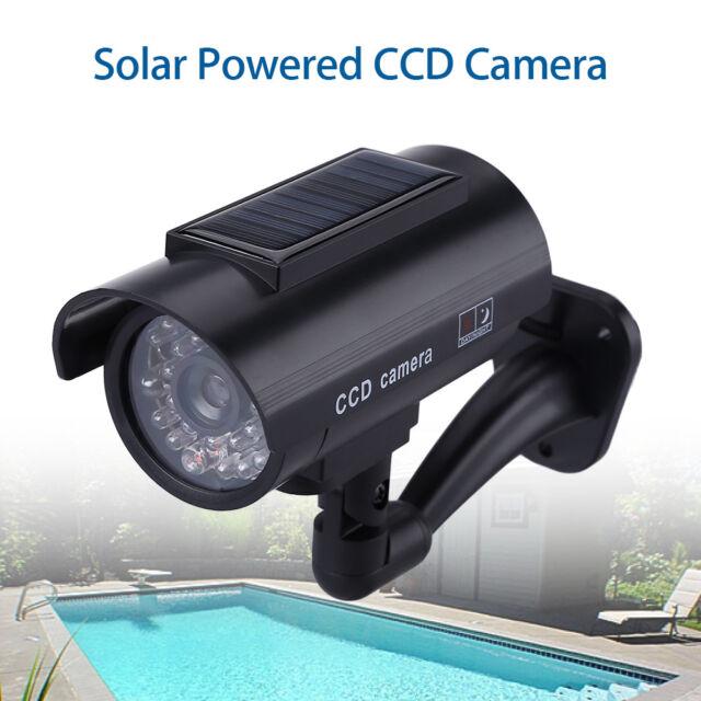 Solar Power Dummy Fake Camera CCTV Outdoor Security Infrared Flashing Blinking