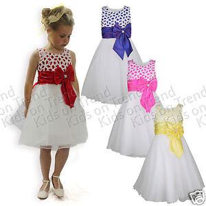 Flor-Chica-vestido-de-Dama-de-honor-Vestido-Ninas-ocasion-formal-Vestido-De-Fiesta-edad-2-12-y