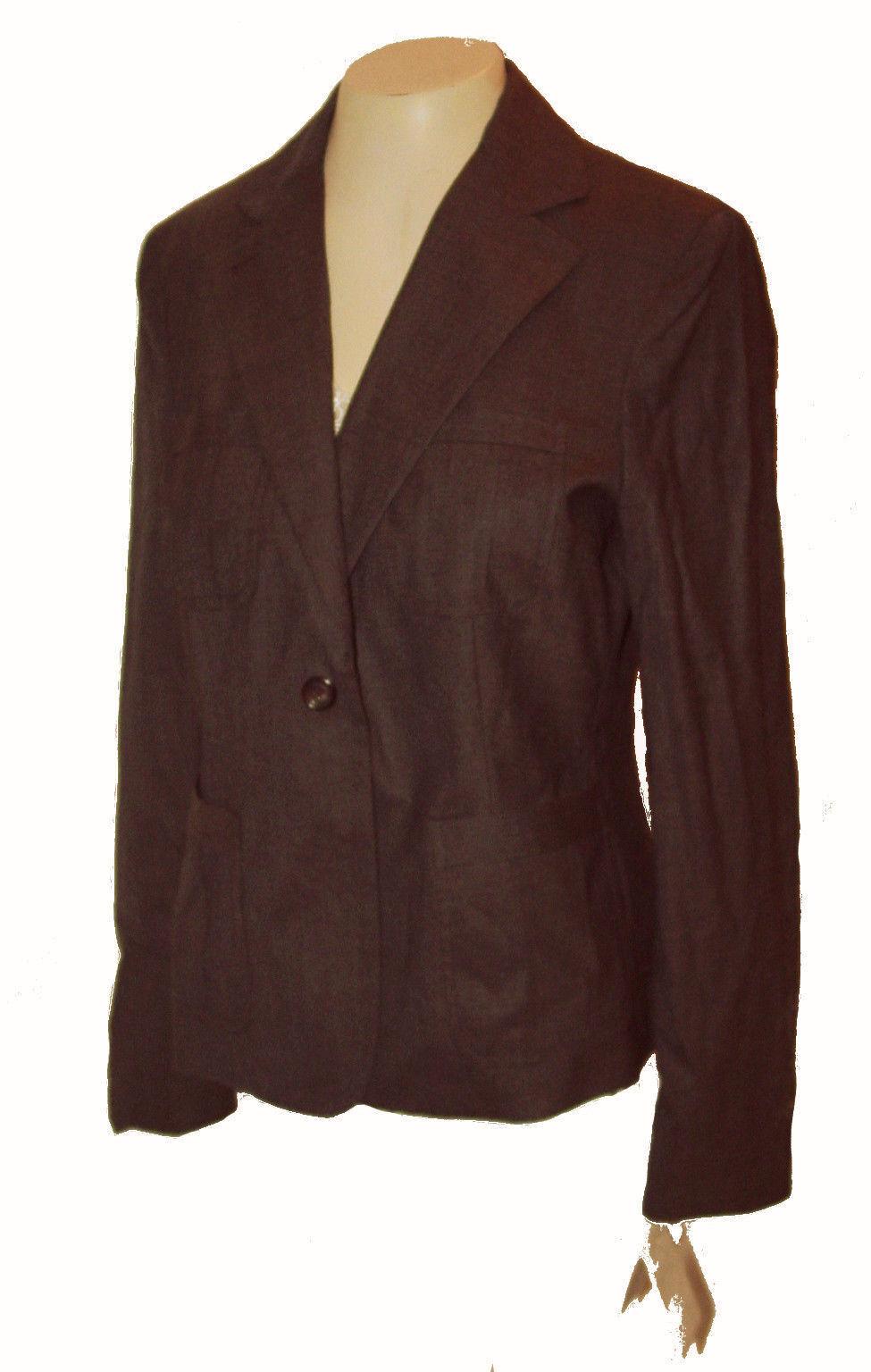 New Blazer, Liz Claiborne, Wool-blend Chocolate-Brown MSRP-  8