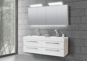 Doppelwaschbecken Mit Unterschrank Und Spiegelschrank : doppelwaschtisch 160 cm badm bel set mit unterschrank ~ Watch28wear.com Haus und Dekorationen