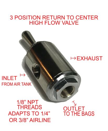 2 Toggle Air Valve 3position return to center high flow valve with fittings xzx