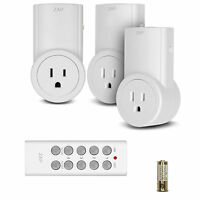 Etekcity Wireless Remote Control Electrical Outlet Switch for Household Appliances (White)