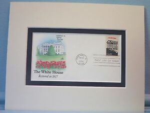 The-White-House-home-of-the-Presidents-and-First-day-Cover-of-its-own-stamp