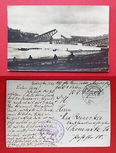 Militaer-Foto-AK-1915-mit-Stempel-Armee-Flugpark-9-Osten-zerstoerte-Bruecke-32533