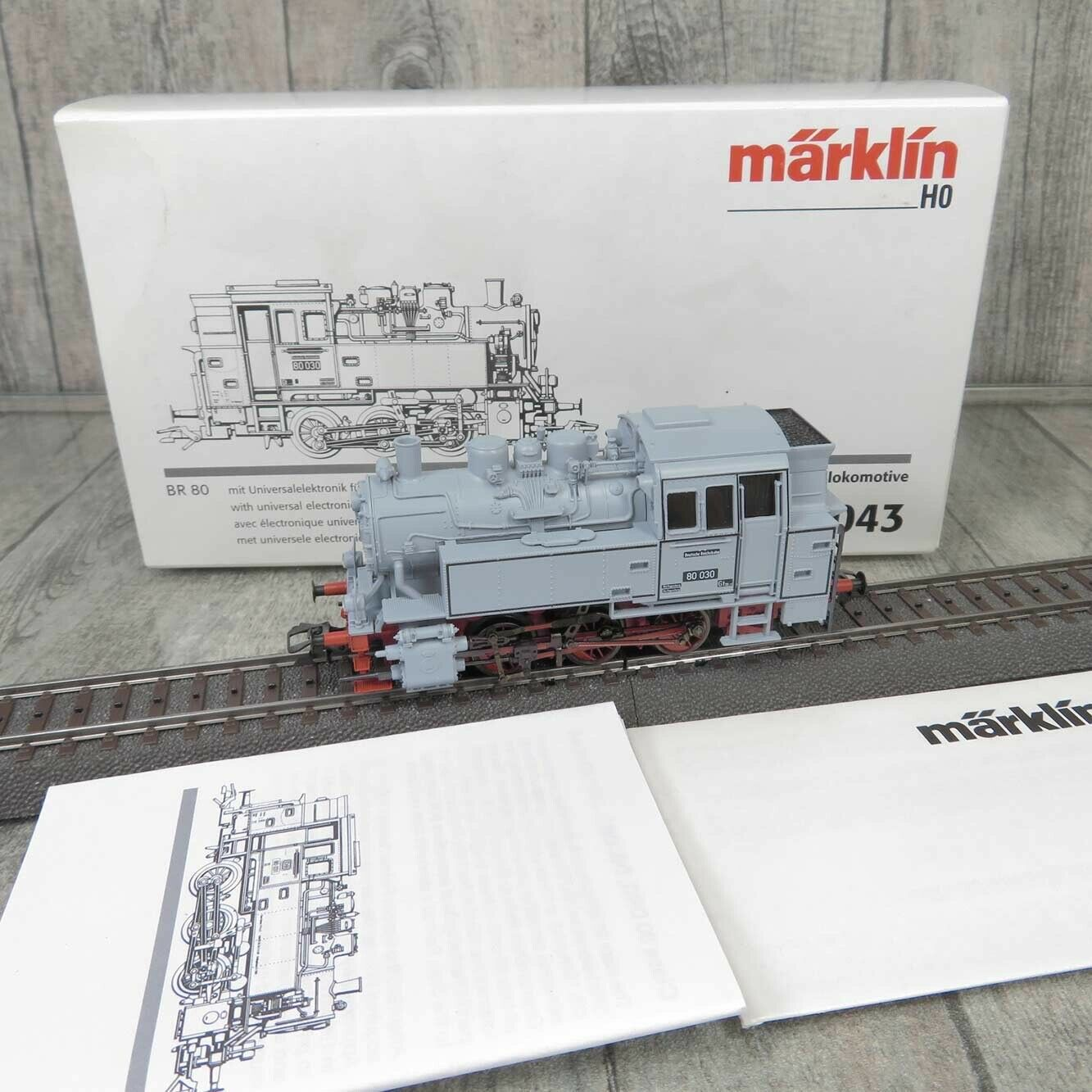 MÄRKLIN 33043 - H0 - DR - Museumslokomotive  80 030 - DIGITAL - OVP -  L20370