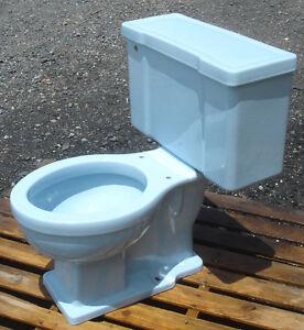 Vintage 1950 Powder Blue Toilet By Briggs Complete Ebay