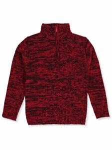 Sezzit-Boys-039-Zip-Mock-Neck-Sweater