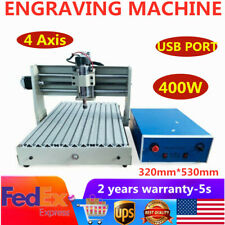 Usb 4axis Cnc 3040 Router Engraver Mill Engraving Machine 400w For Woodworking