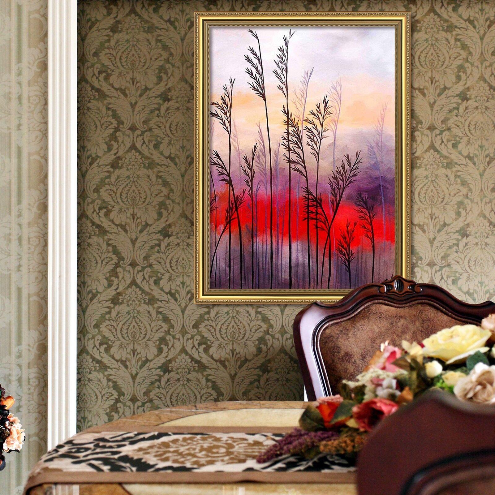 Cartel enmarcado 3D rojo en la nube de 51 Decoración del Hogar Pintura de Impresión Arte AJ