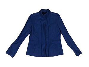 Elie-Tahari-Sz-Large-Royal-Blue-Ruched-Detail-Lightweight-Jacket