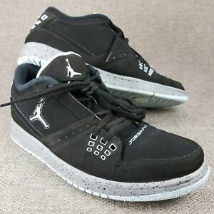 a7f063a80f82 NIKE Air Jordan Flight Black Shoes Men s Size 12 350610-026 Athletic ...
