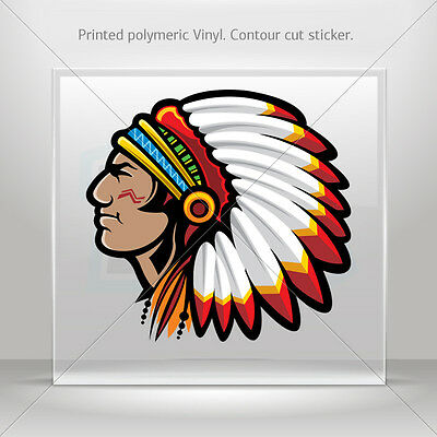 Sticker Decal Indian American Native Helmet Atv Bike Garage st5 XZZ2W