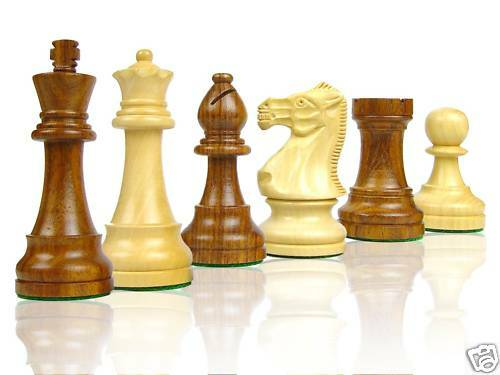Wooden Chess Set Pcs. Popular Staunton 4  2 Extra Queen