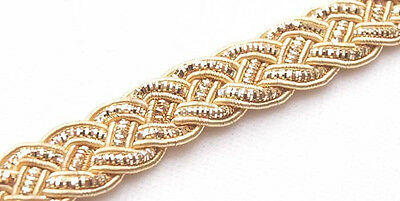 Celtic Knot Bullion Braid Trim Metallic Gold sewing DIY