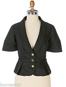 Spectralcoat Tie Blazer Lined Guldknapper Nwt Anthropologie 6 Jacket Elevenses SqABBt