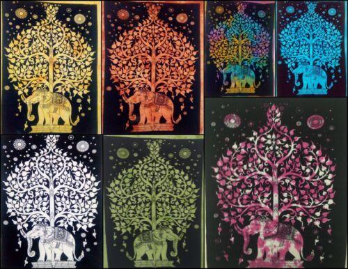 Wandbehang Baumwolle Elefantenbaum Tapisserie-Plakat Schönes Design Handgemacht