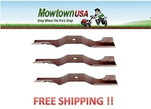 Lawn-Mower-Blade-Set-of-3-For-Ariens-Gravely-03971900-03746500-50-034-Zoom-amp-ZT50