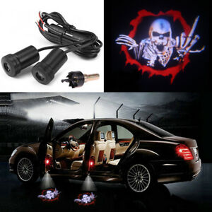 Details About 2x Car Door Led Laser Projector Ghost Shadow Welcome Bat Logo Light