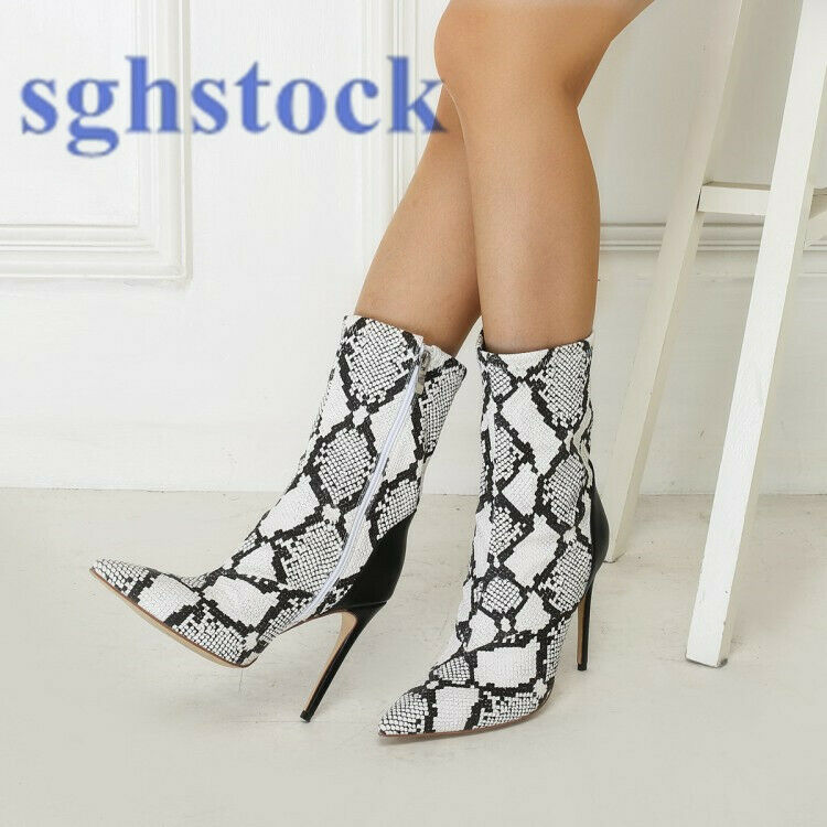 2019 New Women Ankle Boots High Heels Casual Stilettos Pointy Toe shoes Big Size