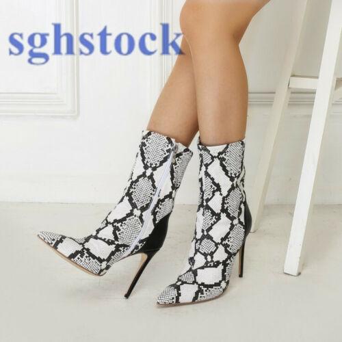 Stiletti New Punta Women dimensioni Scarpe Casual 2019 Stivaletti alto Tacco punta grandi a wRd600TYq