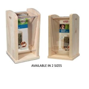 LIVING-WORLD-GREEN-QUALITY-SMALL-ANIMAL-WOODEN-HAY-RACK-FEEDER-CAGE-HUTCH-NEW