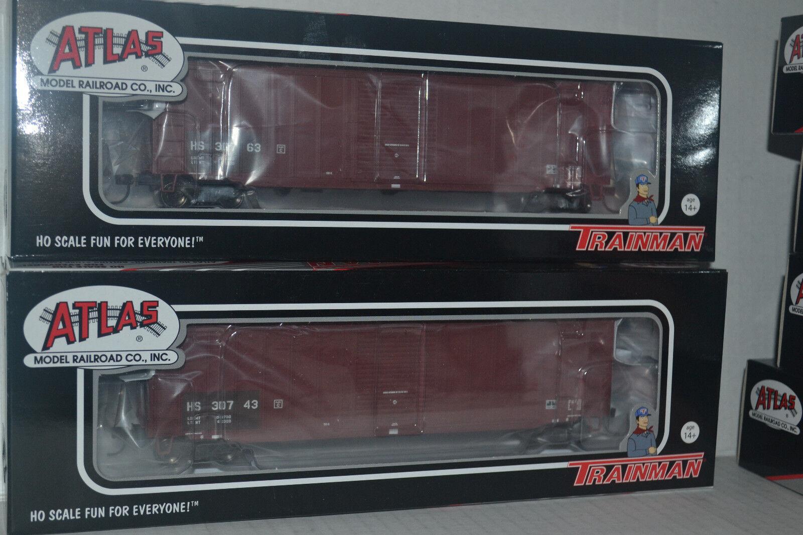 2 Atlas Hartford & Slocumb ACF 50'6  Box Car Ho Scale 20003883, 20003884