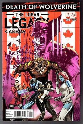 DEATH OF WOLVERINE LOGAN LEGACY #4 LADY DEATHSTRIKE X-MEN COMIC BOOK 1 NM OF 7