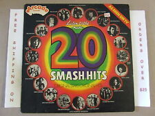 V/A 20 SMASH HITS LP UK IMPORT DAVID BOWIE ROXY MUSIC SLADE ALICE COOPER HOLLIES