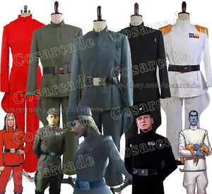 Star Wars The Imperial Officer Stormtrooper Black Uniform Cosplay Costume