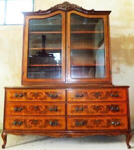 Inlaid-Display-Cases-Commodes-Wardrobe-Cabinet-Baroque-Rococo-Empire-Antique