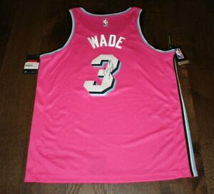 hot sale online f2e97 60b6a Details about MIAMI HEAT DWYANE WADE SIGNED MIAMI VICE CITY EDITION JERSEY  w/COA 48 AUTHENTIC
