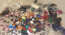 HUGE Lot 1550 Vtg Flatback Cabochon Rhinestone Mix Jewelry Craft Repair Plastic