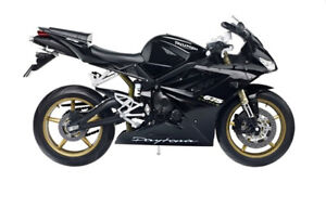 Details About Triumph 675 Daytona 110 Diecast Motorcycle Model Black