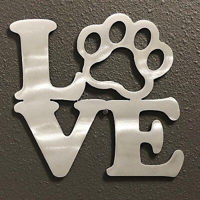 "Dog Paw 5/""x5/"" Aluminum Metal Wall Art Skilwerx Puppy"