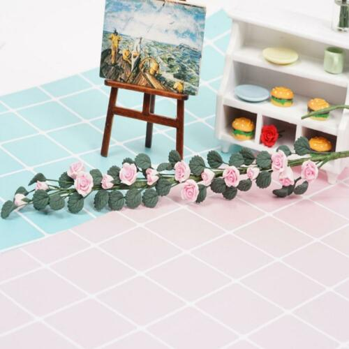 1//12 Dollhouse Monthly Rose Flower Bunch Miniature Clay Pink//Red//Purple//White