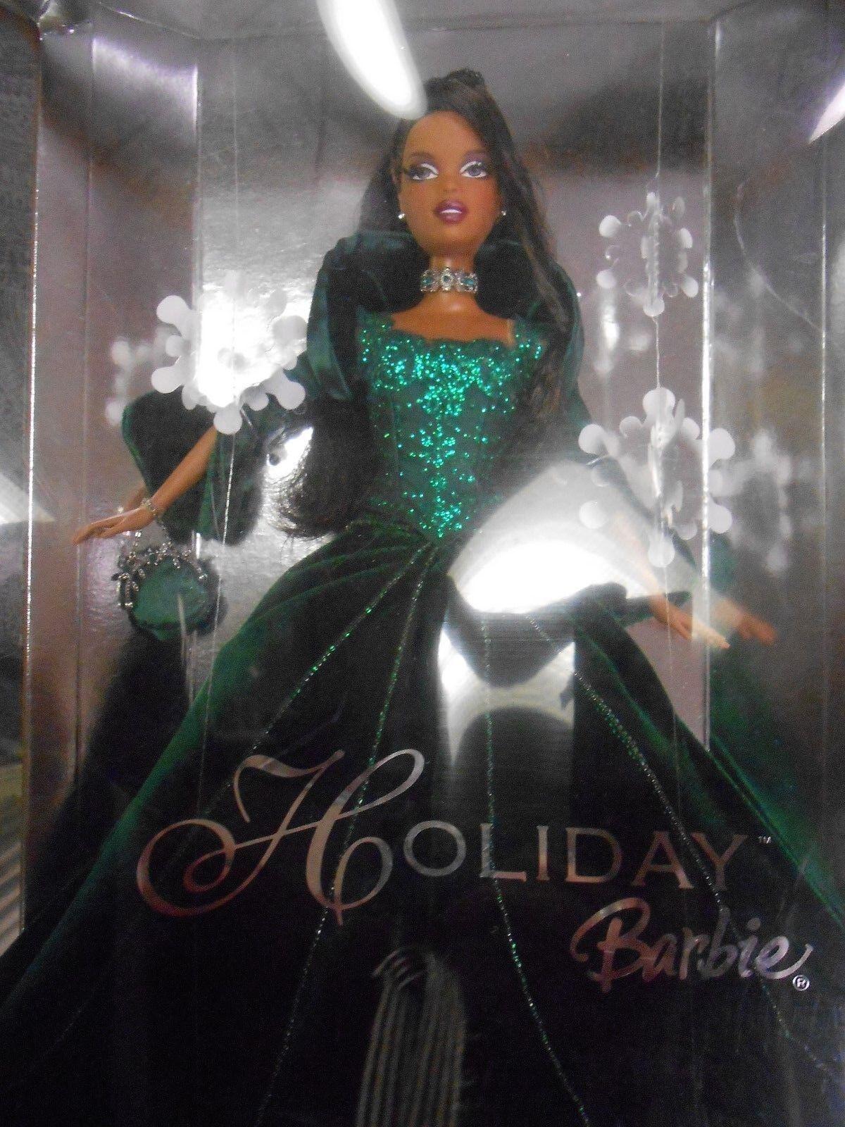 2004 Vacaciones Barbie Muñeca celebración afroamericano Navidad