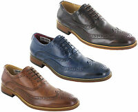 Goor Mens Brogues Shoes Leather Lined Office Smart Work Lace Up Evening Uk 6-14