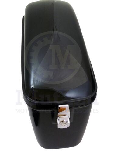 Mutazu Universal LW Hard Bags Motorcycle Saddlebags w// Heavy Duty Mounting Kit