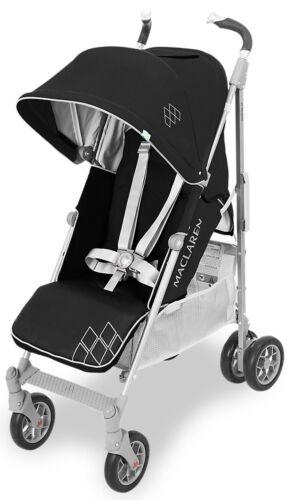 Maclaren Techno XT Baby Full Size Umbrella Fold Stroller Black//Silver New 2018