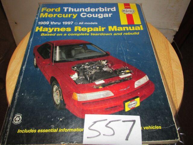 FORD THUNDERBIRD MERCURY COUGAR 1989 -1997 HAYNES SERVICE ...