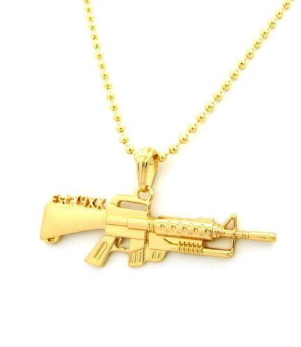 "MGK/'S MACHINE GUN LACE UP EST 19XX PENDANT 3mm//27/"" BALL CHAIN NECKLACE XZP12BC"